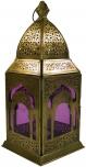 orientalische Messing/Glas Laterne in marrokanischem Design, Windlicht in 6 Farben