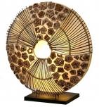 Tischlampe / Tischleuchte Olivea - in Bali handgemacht aus Naturmaterial, Rattan