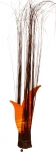 Tischleuchte / Tischlampe `Mandiri` - in Bali handgemacht aus Naturmaterial, Baumwolle