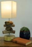 Tischleuchte / Tischlampe Salamanca,Treibholz, Baumwolle, in Bali handgemacht aus Naturmaterial - Modell Salamanca