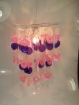 Deckenlampe / Deckenleuchte Seventy, Muschelleuchte aus hunderten Capiz, Perlmutt-Plättchen