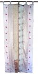 Vorhang (1 Stk.) Gardine aus Patchwork Sareestoff - beige