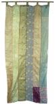 Vorhang (1 Stk.) Gardine aus Patchwork Sareestoff - grün