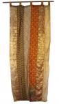 Vorhang (1 Stk.) Gardine aus Patchwork Sareestoff - orange