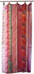 Vorhang (1 Stk.) Gardine aus Patchwork Sareestoff - rot