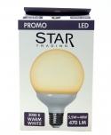 5,5 W LED Lampe Globe E27 (470LM ~ 40W) - warmweiß