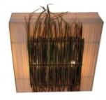 Wandlampe / Wandleuchte Java 40,50, Set- in Bali handgefertigt aus Naturmaterial
