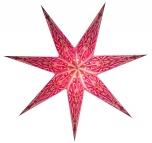 Faltbarer Advents Leucht Papierstern, Weihnachtsstern Devi lila