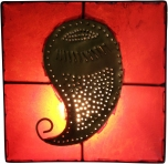 Henna - Leder Wandlampe Mango