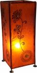 Henna - Leder Tischlampe / Tischleuchte Agra