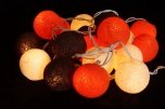 Stoff Ball LED Lichterkette `Sommer Farbe`