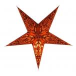 Faltbarer Advents Leucht Papierstern, Weihnachtsstern Menor small - orange