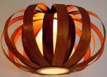 Deckenlampe / Deckenleuchte Scandia - in Bali handgemacht aus Naturmaterial, Holz