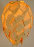 Deckenlampe / Deckenleuchte Fussilia - in Bali handgemacht aus Naturmaterial, Kokosfaser,