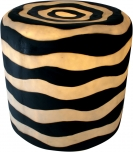 Outdoor Hocker, Gartenleuchte - Zebra