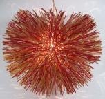 Deckenlampe / Deckenleuchte Fugu - multicolour - in Bali handgemacht aus Naturmaterial, Rattan,