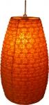 Kleiner ovaler Lokta Papierlampenschirm, Hängelampe Corona