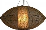 Deckenlampe / Deckenleuchte Miranda oval - in Bali handgemacht aus Naturmaterial, Bambus