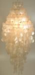 Deckenlampe / Deckenleuchte Sakawa 90cm , Muschelleuchte aus hunderten Capiz, Perlmutt-Plättchen