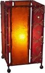 Leder - Saree Tischlampe / Tischleuchte Mandalay