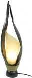 Palmenblatt Tischlampe / Tischleuchte, in Bali handgemacht aus Naturmaterial, Palmholz - Modell Palmera 10