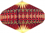Origami Design Lampenschirm Ufo - rot
