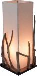 Tischleuchte / Tischlampe Lesotho, in Bali handgemachtes Unikat aus Naturmaterial, Treibolz, Baumwolle -