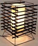 Tischlampe / Tischleuchte Kigali - in Bali handgemacht aus Naturmaterial