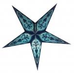 Faltbarer Advents Leucht Papierstern, Weihnachtsstern Ganesha small - blue