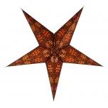 Faltbarer Advents Leucht Papierstern, Weihnachtsstern Anubis - braun