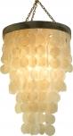 Deckenlampe / Deckenleuchte Tikal, Muschelleuchte aus hunderten Capiz, Perlmutt-Plättchen