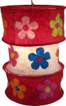 runde Papier Hängelampe, Lokta Papierlampenschirm Lhasa, handgeschöpftes Papier - rot