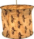 runde Papier Hängelampe, Papierlampenschirm Annapurna, handgeschöpftes Papier - weiß/Auge