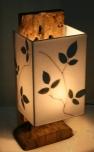 Tischleuchte / Tischlampe Kathargo, in Bali handgemachtes Unikat aus Naturmaterial, Treibholz, Baumwolle - Modell Kathargo