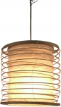 Faltbarer Lampenschirm/Deckenlampe/Deckenleuchte Malai 30, handgemacht in Bali, Baumwolle