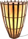 Tischlampe / Tischlampe / Tischlampe / Tischleuchte Bonita - in Bali handgemacht aus Naturmaterial, Bambus, Baumwolle