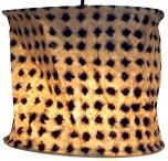 runde Papier Hängelampe, Papierlampenschirm Annapurna, handgeschöpftes Papier - weiß/schwarz