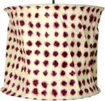 runde Papier Hängelampe, Lokta Papierlampenschirm Annapurna, handgeschöpftes Papier - weiß/rot
