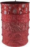 runde Papier Hängelampe, Lokta Papierlampenschirm Everest, handgeschöpftes Papier -rot