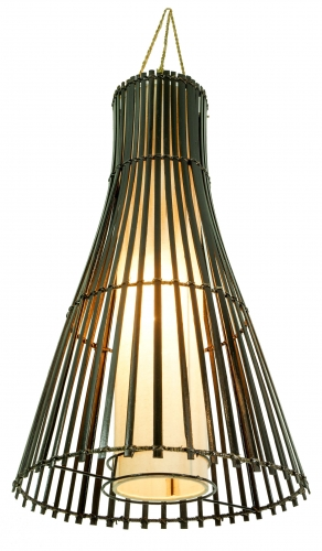 Ceiling Lamp/Ceiling Lamp, handmade in Bali from natural material, bamboo, cotton - Model Congo - 63x35x35 cm