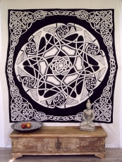 Wall hanging, wall cloth, mandala, bedspread Celtic - design 26