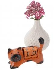 Wooden Calendar - Cat orange