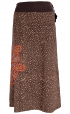 Maxirock, long Rock Mandala, Boho Rock - brown