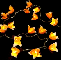 Exotic Blossoms LED light chain Chiang Mai 20 pcs. - Blossom oran..