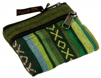 Ethno wallet, purse - green