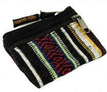 Ethno wallet, purse - black