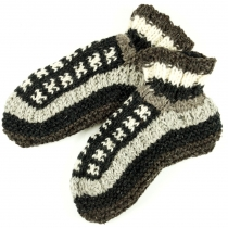 Wool slippers Hippie hut slippers - grey