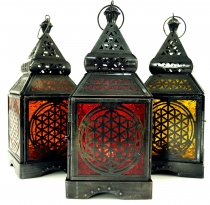 Oriental iron/glass lantern in Moroccan design, wind light