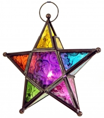Oriental glass star in Moroccan design, lantern - model 3