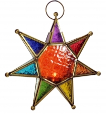 Oriental glass star in Moroccan design, lantern - model 4